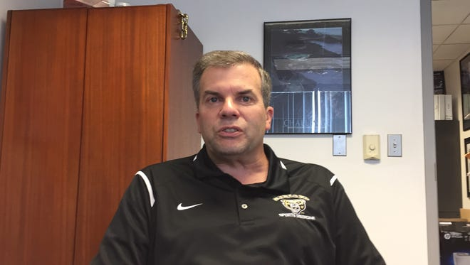 Outgoing Oakland University trainer Tom Ford on May 19, 2017