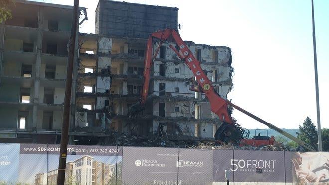 Demolition at 50 Front St., in Binghamton Monday, June 12, 2017.