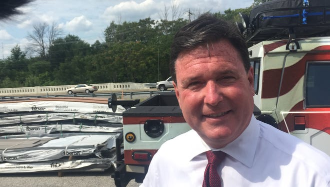 U.S. Rep. Todd Rokita has been using his flag-wrapped, surplus Humvee as his campaign vehicle --and  interview backdrop --  since 2015.