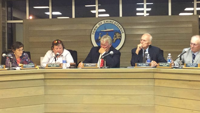 The Chincoteague Town Council met Tuesday, Sept. 5, 2017 in Chincoteague, Virginia.