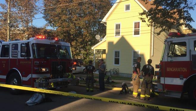 Binghamton firefighters responded to 28 Cedar St., on Saturday, Sept. 23, 2017.