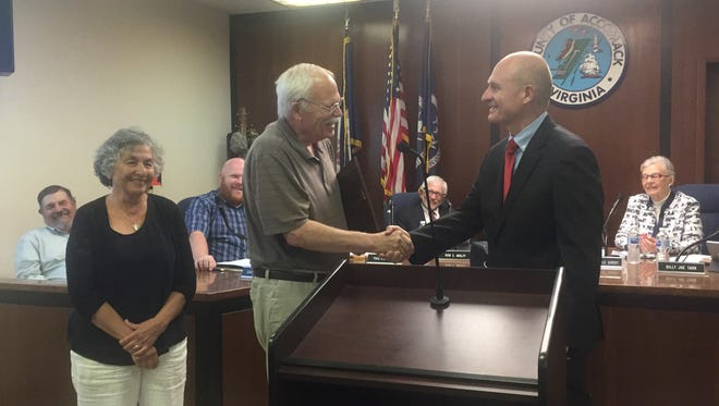 Dr. Drury Stith was honored upon his retirement after 43 years at the Accomack County Board of Supervisors meeting on Wednesday, June 20, 2018 in Accomac, Virginia.