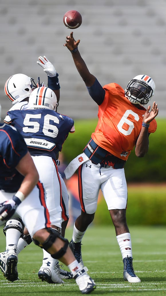 Jeremy Johnson will likely spit first-team reps on A-Day.