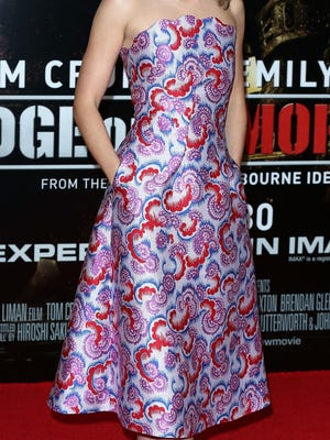 LONDON, ENGLAND - MAY 28:  Emily Blunt attends the UK premiere of 'Edge of Tomorrow' at BFI IMAX on May 28, 2014 in London, England.  (Photo by Tim P. Whitby/Getty Images)