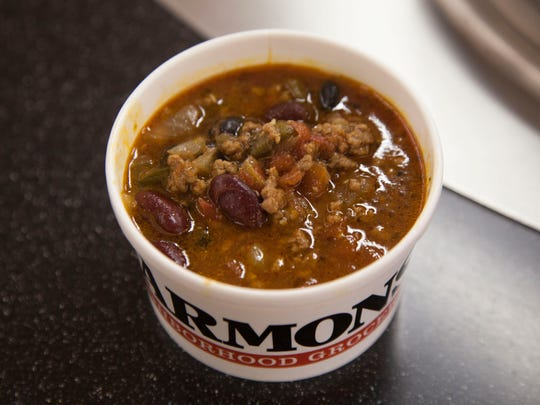 Beef chili from Harmons Tuesday, Oct. 31, 2017.