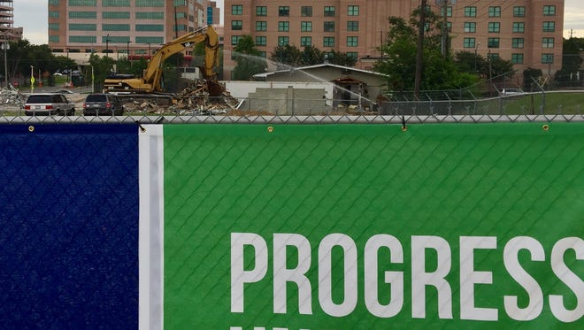 Demolition is in full swing for the western expansion of St. Jude Children's Hospital.