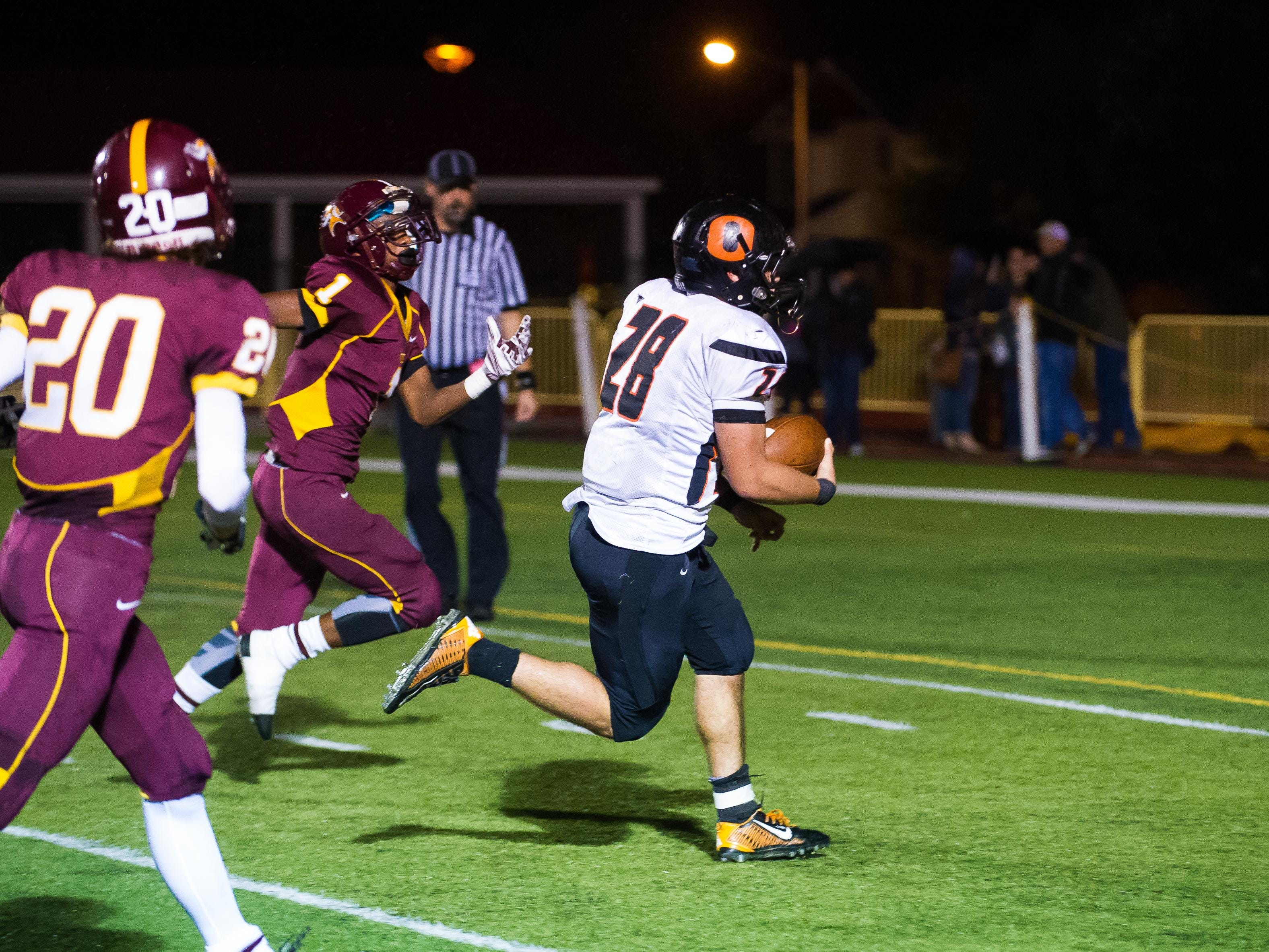 Sprague running back Anthony Nunn rushes for one of his five touchdowns Friday against Forest Grove on Friday, Sept. 26, 2015.