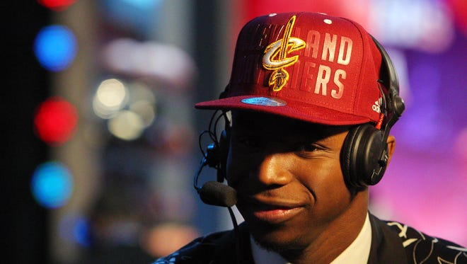 Andrew Wiggins was taken No. 1 in the NBA draft by the Cleveland Cavaliers.