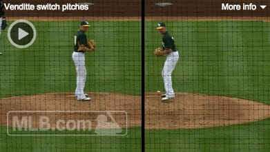 Yes, former Creighton pitcher Pat Venditte can pitch with both hands.