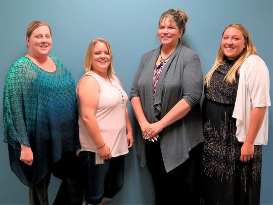 Southern Tier Industries employees Sherry Kelly, left, Kristine Kohler, Lucinda Wood and Nicole Brown recently passed the Certified Employment Support Professional certification exam.