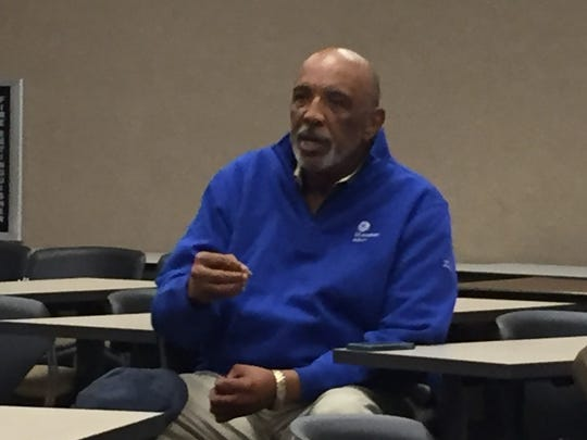 State Rep. Terry Landry discusses the state's criminal justice reform program Oct. 25, 2017.