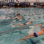Swimmers compete during the City Meet Tuesday, March 31, 2015 at Epic in Fort Collins, CO.