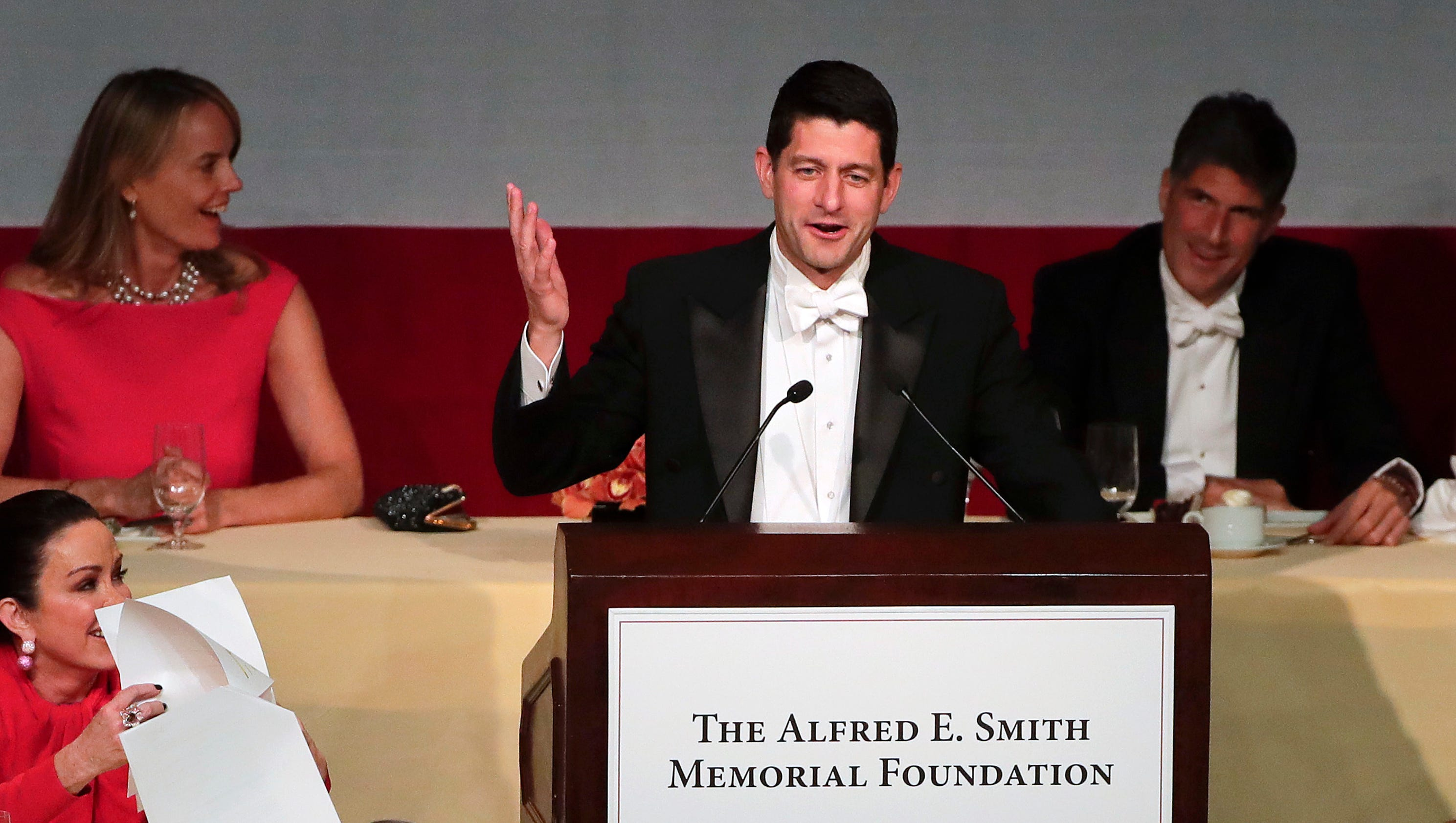 Paul Ryan gets in some good Trump burns at Al Smith dinner