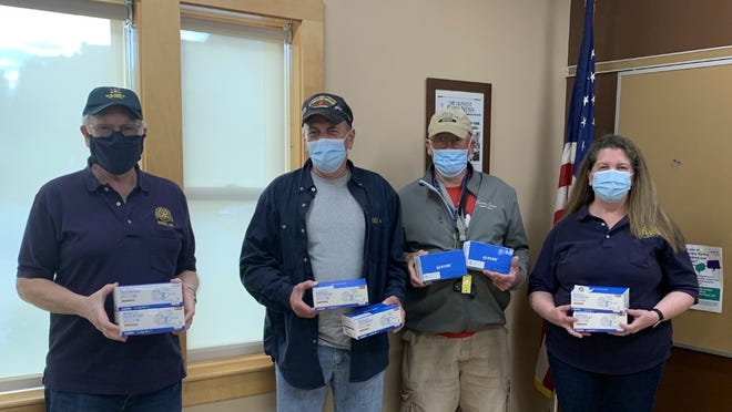 The Charles River Rotary Club recently donated 500 medical masks to the Natick Veterans Services Department to thank veterans for their service.