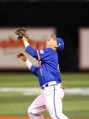 Louisiana Tech second baseman Jordan Washam is third