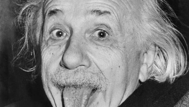 Albert Einstein in a classic picture from March 18,1951.