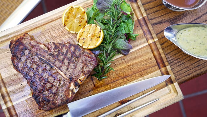 The Porterhouse for Two from Geordie's Restaurant & Lounge at Wrigley Mansion.