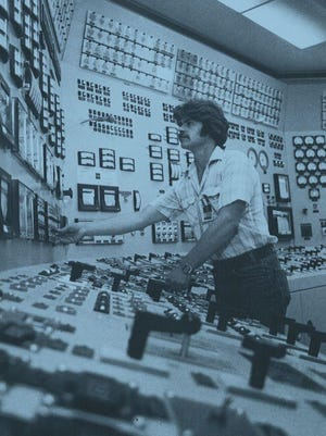 Thousands of people have worked at the Point Beach Nuclear Power Plant in the last 45 years. Shown here is an employee of Point Beach Nuclear Power Plant in the 1980s.