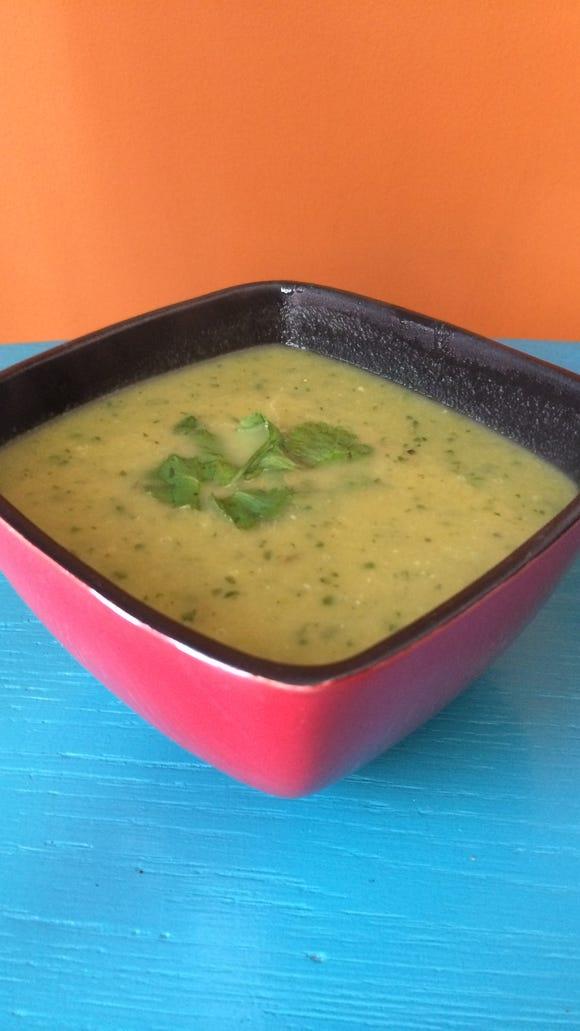 Faux green chili soup.