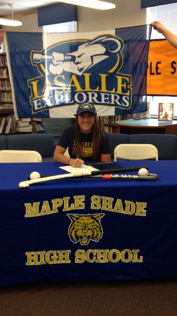 Mackenzie Karcher of Maple Shade signs with La Salle