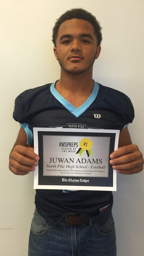 Juwan Adams is the #MSPreps player of the week after his performance in a 70-54 win at Wilkinson County