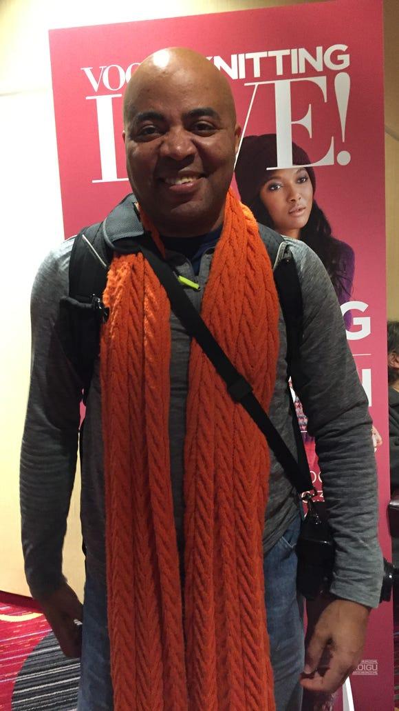 I found Steve Malcolm, aka Mr. Hugzz, at the marketplace at Vogue Knitting Live.