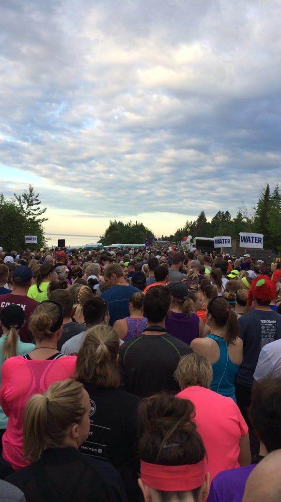 The Garry Bjorklund Half Marathon started at 6:15 a.m.