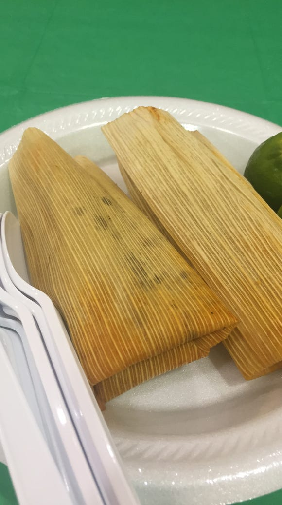 Tamales were one treat at the Mexican and Central American