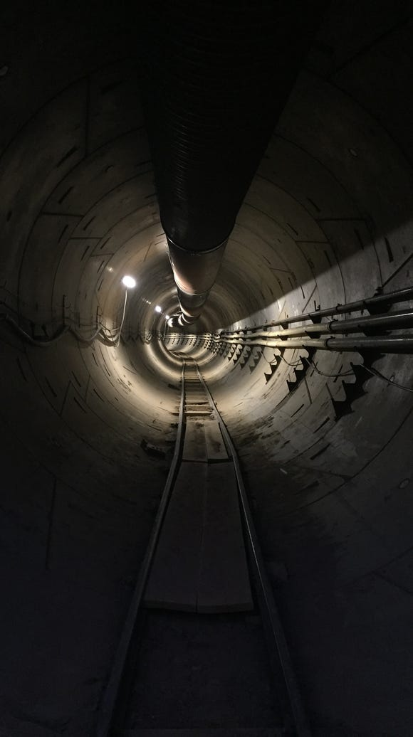 A tunnel created by The Boring Company.