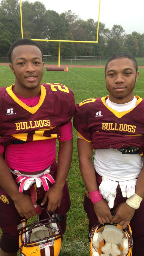 Jordan Johnson and Quadir Campbell may be small but they play with huge hearts