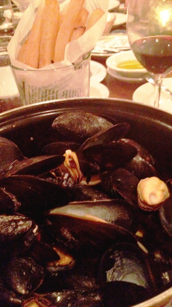 Mussels are one of the house specials at this restaurant.