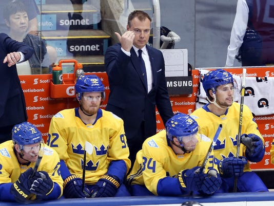 Hockey: World Cup of Hockey-Team Russia vs Team Sweden