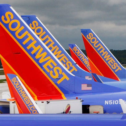 This file photo from May 16, 2008, shows Southwest jets at Baltimore-Washington International Airport.