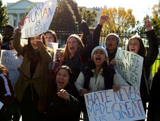 AP TRUMP PROTESTS A USA DC