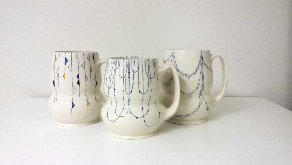 Handmade mugs by Erin Carpenter of Erin Carpenter Pottery