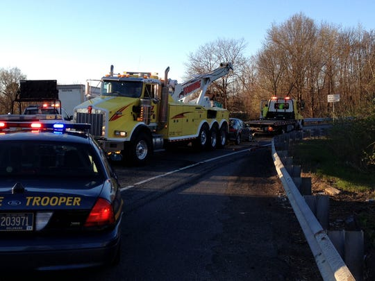 Accident scene on southbound Del. 141 ramp to southbound I-95