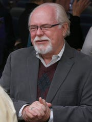 Former Rep. Ron Barber, one of the victims of the Tucson shootings, attended the shooting's five year memorial service at Banner University Medical Center Tucson on Jan. 8, 2016. Barber worked in Giffords' congressional office at the time of the shooting.