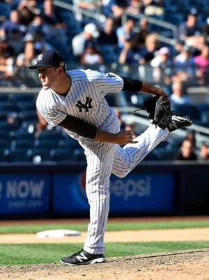 Blake Parker during his time with the New York Yankees.