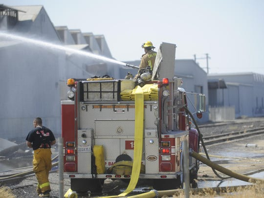 CAL FIRE assisted Lindsay Fire Department in putting out a packing house fire.