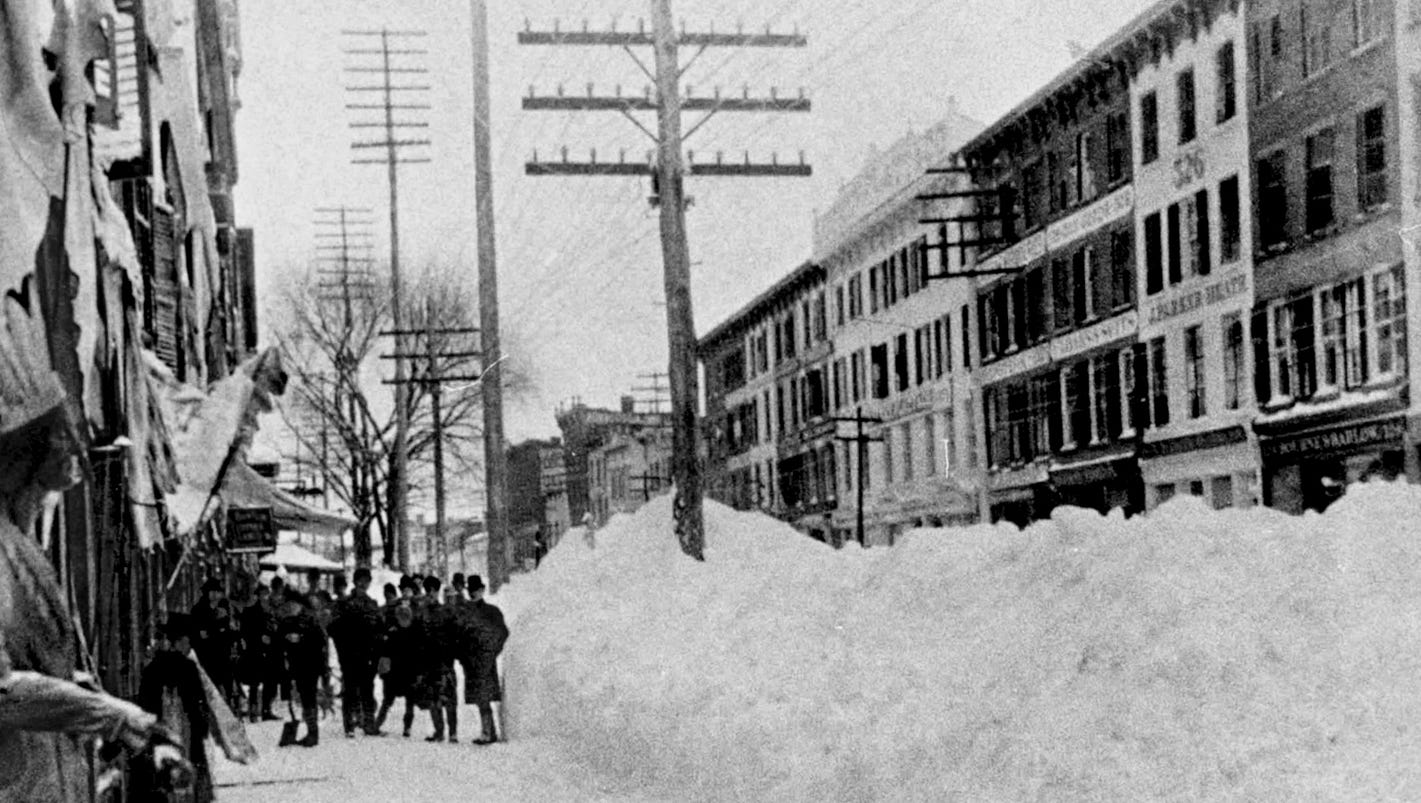 the murderous blizzard of 1888 Great blizzard of 1888 the notorious blizzard of 1888 literally paralyzed the northeast after three days of snow, wind and freezing temperatures two-and-a-half to.