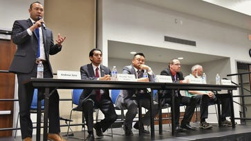 State, national candidates tackle local issues