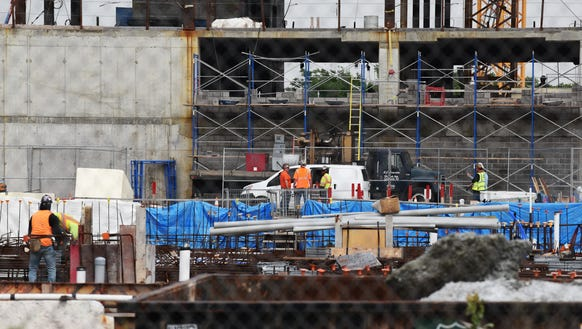 Construction workers have returned to American Dream