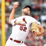 Cardinals starting pitcher Michael Wacha went seven innings against the Colorado Rockies at Busch Stadium.