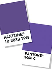Pantone color chip.