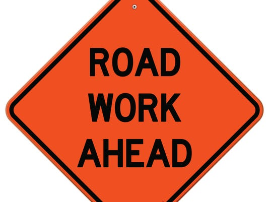 road work ahead 159063564