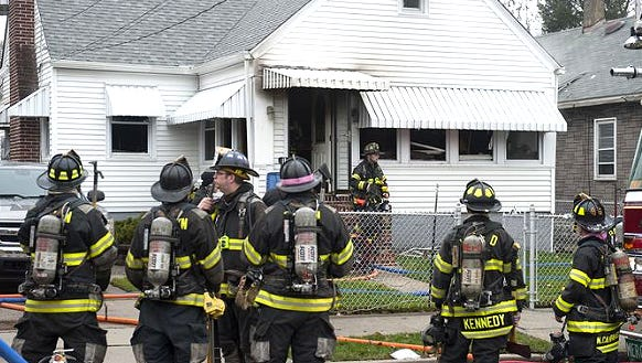 Scene of a fire on 3rd Ave. in Mt. Ephraim.