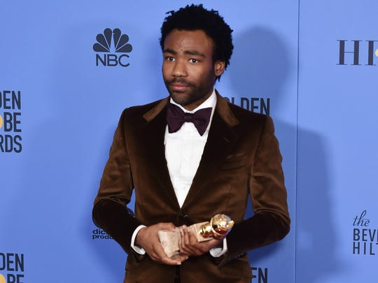 Donald Glover, winner of best actor in a comedy series for 'Atlanta.'