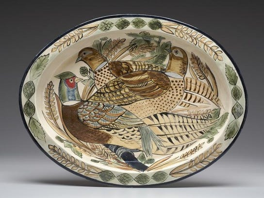 Ceramic plate by Thor Thoreson of Gills Rock Pottery,