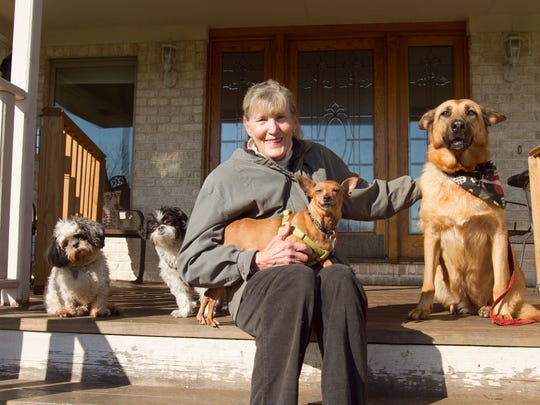 Former Last Chance Rescue director Sharen Anne Kizer, seen in this 2015 photograph, pleaded no contest to an animal neglect charge Tuesday, July 24, 2018. Livingston County Animal Control officers seized about 120 animals from the Howell Township rescue in December 2017.