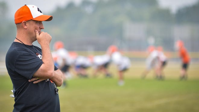 Byron head football coach Jeff Boyer and his squad will have to wait an extra week for their first game after Dixon had to cancel the season opener against the Tigers due to COVID-19 protocols.